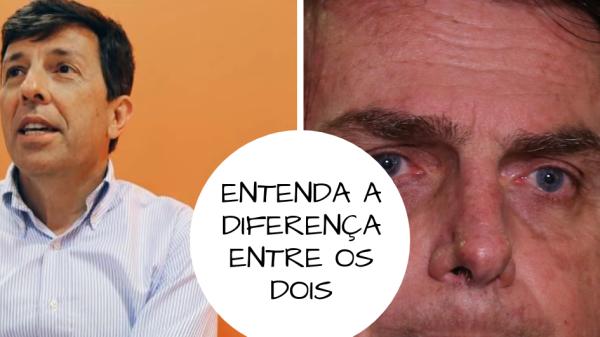 Entenda a diferença entre João Amoêdo e Bolsonaro.